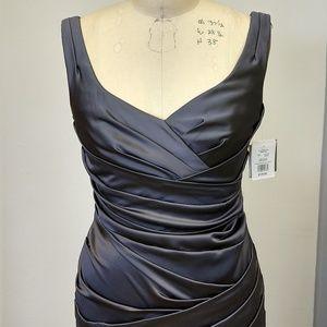 David's Bridal Satin Stretchy Gown